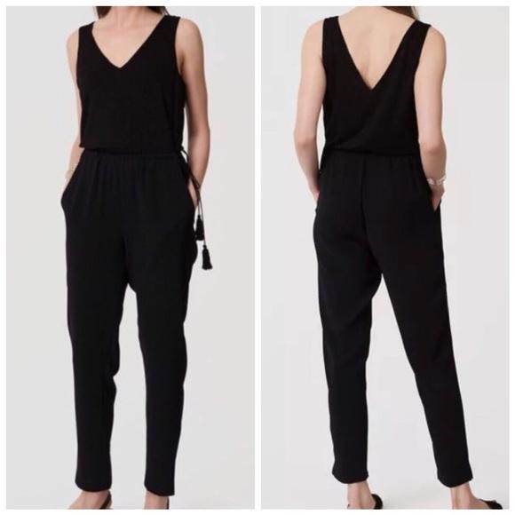 Loft Pants Tassel Jumpsuit Black Poshmark